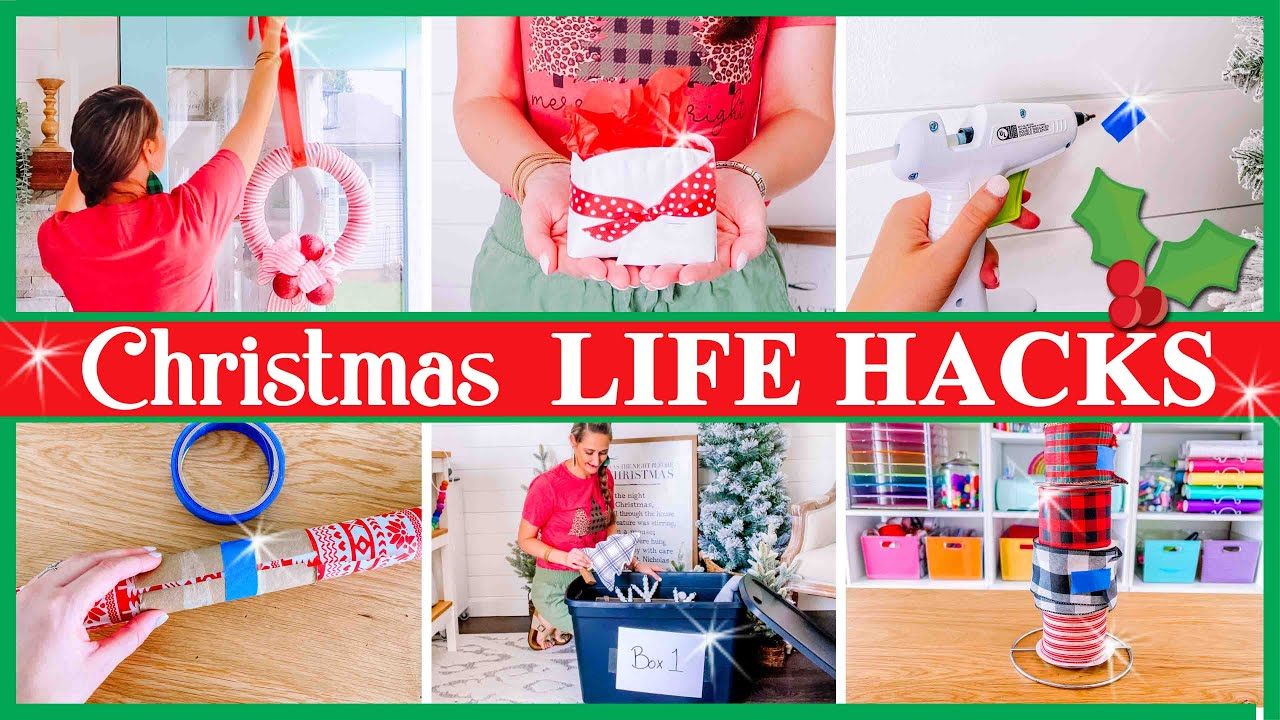 10 CHRISTMAS LIFE HACKS you'll want to try! (make Christmas EASIER this year!)