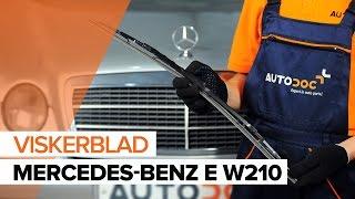Fjerne Viskerblader MERCEDES-BENZ - videoguide