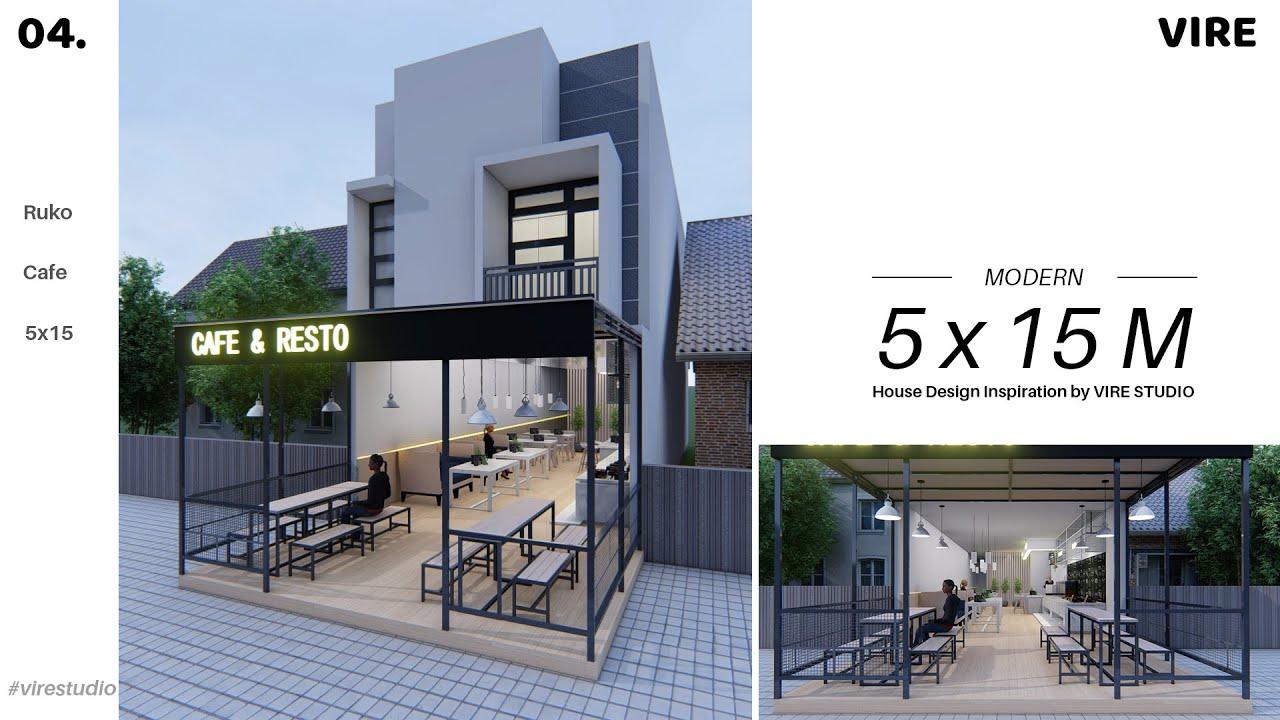 Ruko 5x15 Minimalis Modern 2 Lantai Rumah Toko Cocok Buat Usaha Coffe Shop Youtube