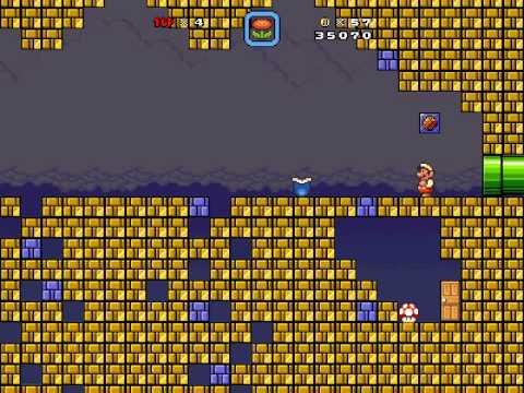Super Mario Bros X 1.3 (invasion 2) Floating Brick Niche [secret exit]