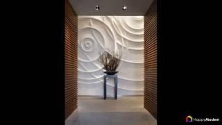 видео 3d стеновые панели в интерьере. Декорируем стены
