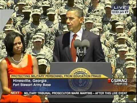 President Obama at Fort Stewart, Georgia on Protecting Military from Education Fraud