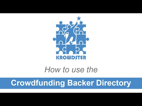 Crowdfunding Backer Directory - How to Recruit Kickstarter & Indiegogo Super Backers