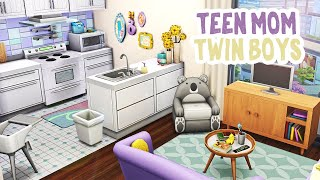 Teen Mom and Twin Boys || The Sims 4 Apartment Renovation: Speed Build