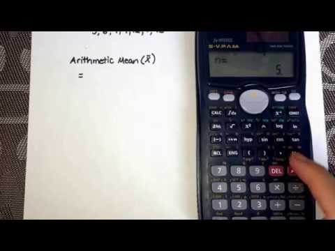Calculating Mean Using The Calculator (Casio Fx-991MS)