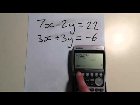 Graphical Calculator Quick Tip: Simultaneous Equations