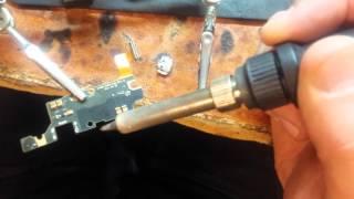 ремонт сотовых телефонов. samsung note замена гнезда зарядки charging not worked(, 2014-04-16T15:34:21.000Z)