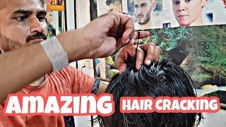 Amazing Hair cracking head massage by Romieo barber   Indian Massage