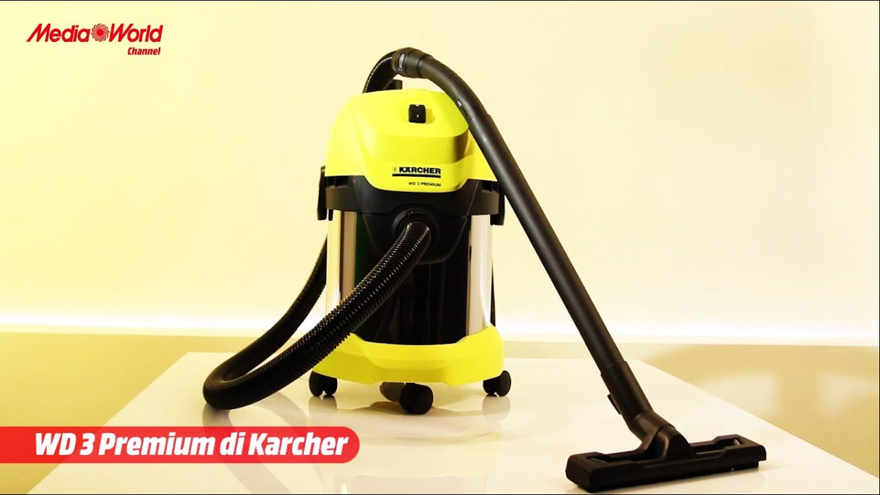 karcher wd3 premium l 39 aspiratore multifunzione youtube. Black Bedroom Furniture Sets. Home Design Ideas