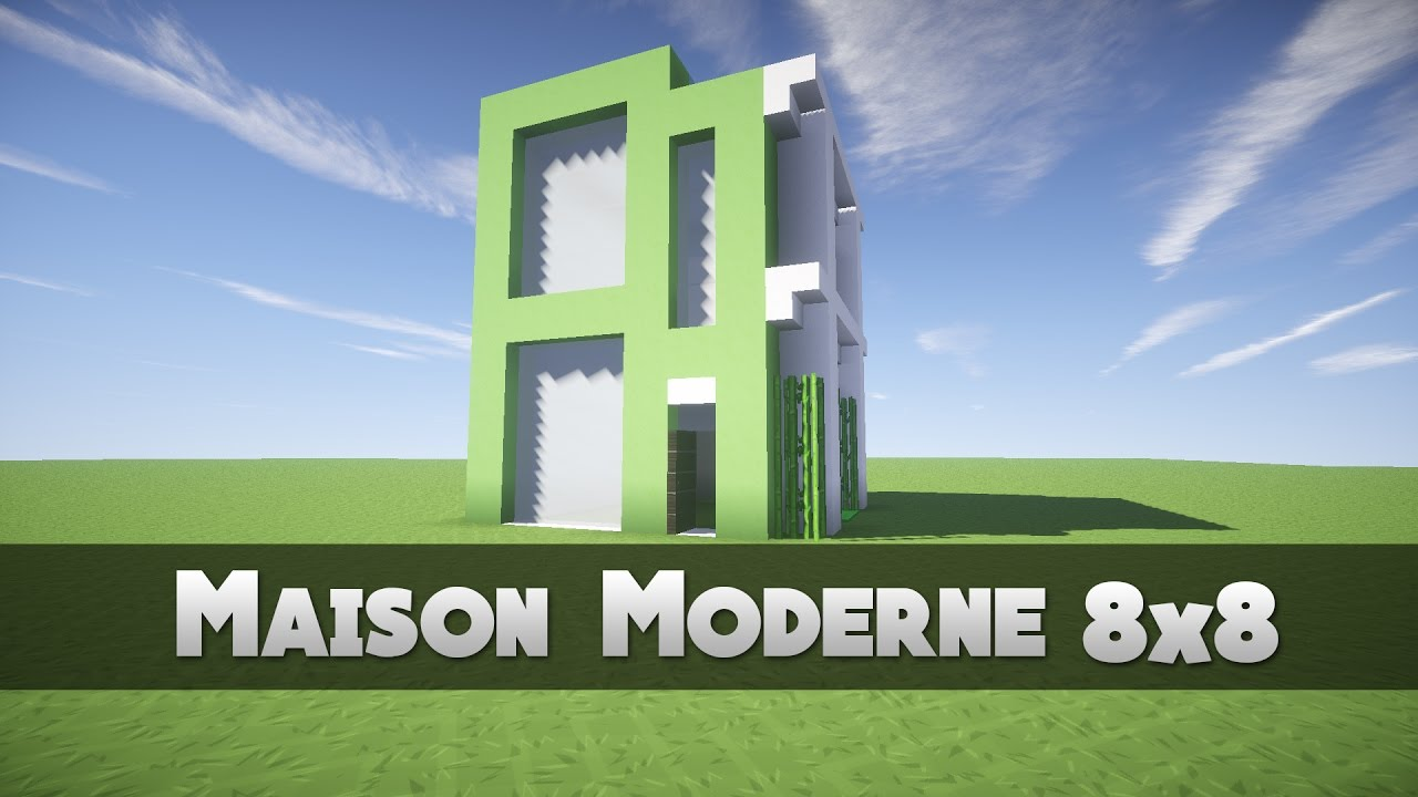 Tuto maison moderne 8x8 minecraft youtube for Maison moderne minecraft tuto