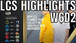 LCS Highlights ALL GAMES Week 6 Day 2 Summer 2019 League of Legends NALCS