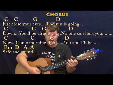 Safe and Sound (Taylor Swift) Strum Guitar Cover Lesson in Em with Chords/Lyrics