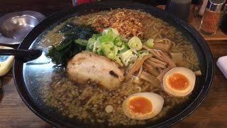 早食いチャレンジ→風神でちゃれんじらぁめん食べた。Eating oil on ramen in 15min thumbnail