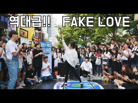 상금 10만원 획득!! 여자가 추는 방탄소년단 FAKE LOVE!! 지려버렸다...!! (춤추는곰돌 AF STARZ)