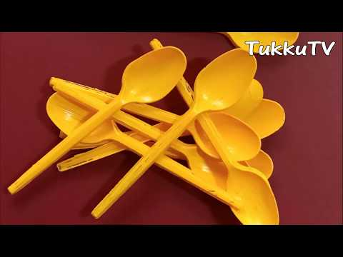 Diya Stand From Plastic Spoon    Decoration Ideas 2020   TukkuTV