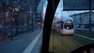 [Tram Cab Ride] Ligne 6 du tramway de Lyon / Debourg ➡ Hopitaux Est - Pinel
