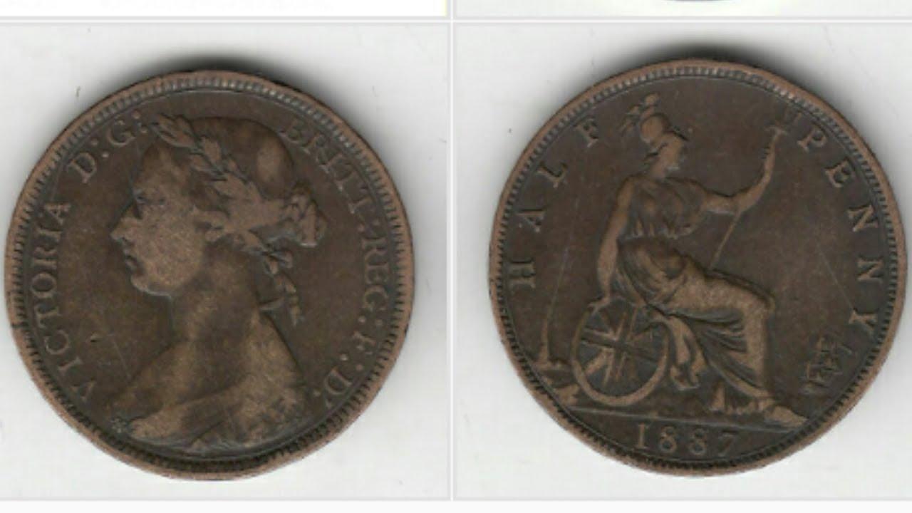 UK Victoria 1887 Half Penny Coin VALUE