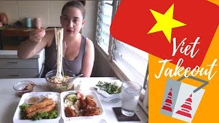 Vietnamese Takeout Mukbang (ft. Spring Roll, Pho & Wings)