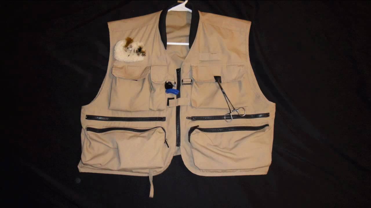 How To Use Your Fly Fishing Vest Rod Holder - DFF009 - YouTube
