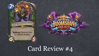 Hearthstone Quick Take: Boomsday Card Review #4