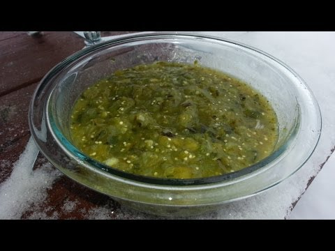 Salsa Verde - Fire Roasted Tomatillo Salsa Recipe - Best Green Sauce Recipe