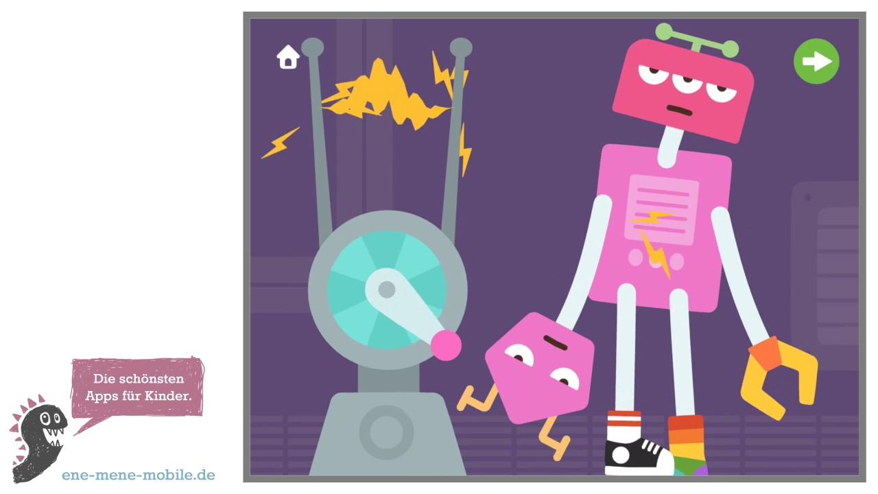 sch ne spiele app f r kleinkinder sago mini roboter party app vorschau gameplay youtube. Black Bedroom Furniture Sets. Home Design Ideas