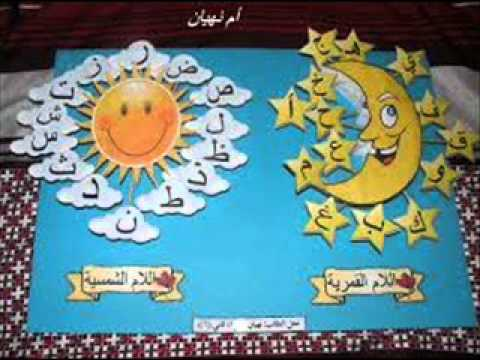 صور الحروف الشمسية والقمرية