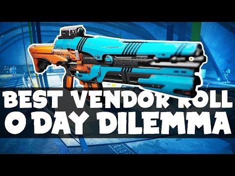 DESTINY - BEST VENDOR WEAPON (13/06/17) ZERO DAY DILEMMA! EXTREMELY FUN AUTO RIFLE! PVP BEAST!