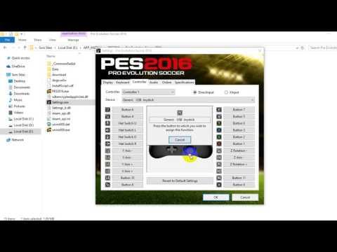 Cara Setting JoyStick PES 2016