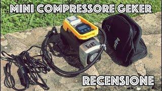 Compressore portatile GEKER. Ideale per Auto, moto, bici e attrezzi sportivi! (Recensione)
