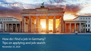 Webinar: How do I fİnd a job in Germany? Tips on applying and job search
