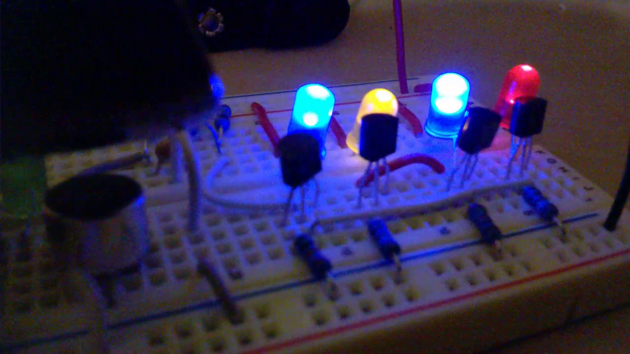 Very Simple Electronic Project Diy Music Led Light Youtube Projects