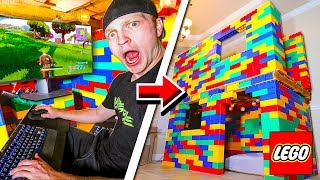 2 STORY LEGO MANSION WITH GAMING SETUP!