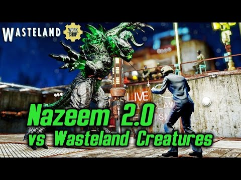 Fallout 4 Wasteland Workshop - Nazeem 2.0 vs Wasteland Creatures