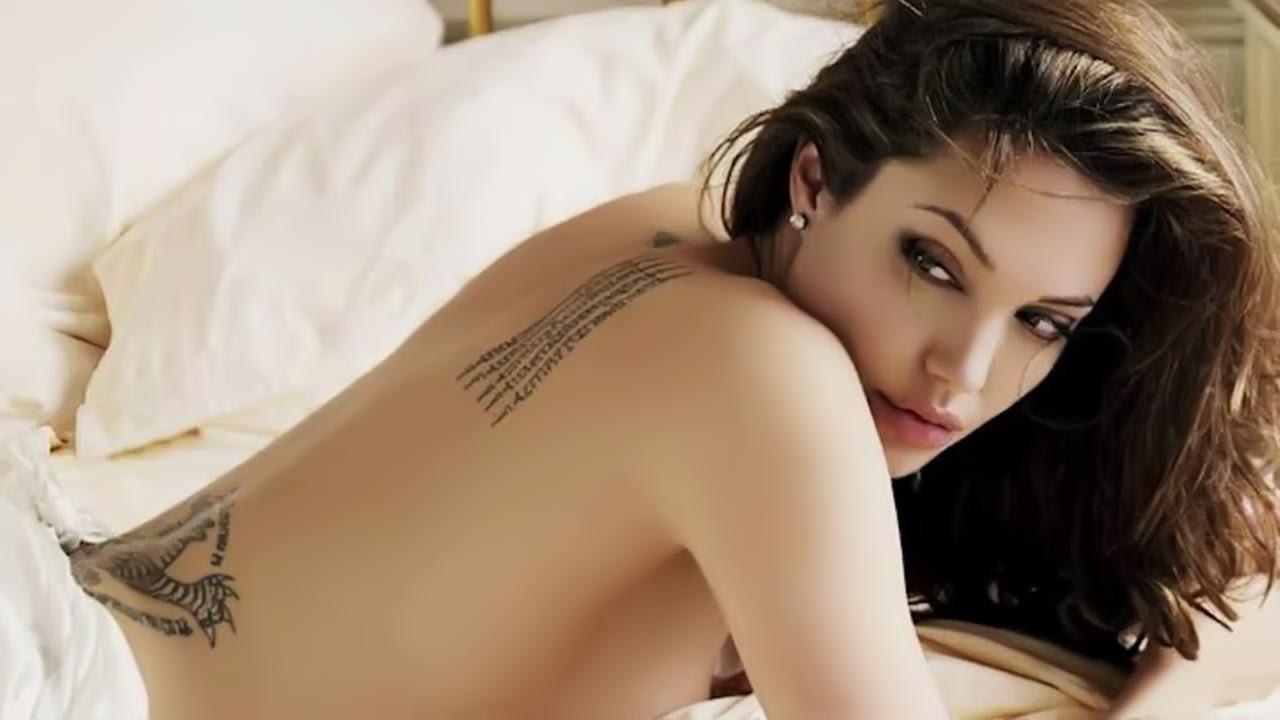 Angelina Jolie Pouts