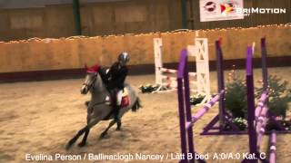Evelina Persson   Ballinaclogh Nancey   Lätt B bed  A 0 A 0 Kat  C