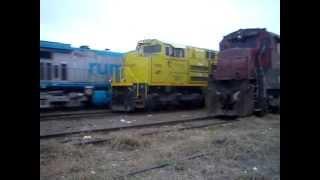 Entrando para trabalhar e encontro de Gigantes em ZRX,Rio Claro, Locomotivas AC 44 x SD 70!