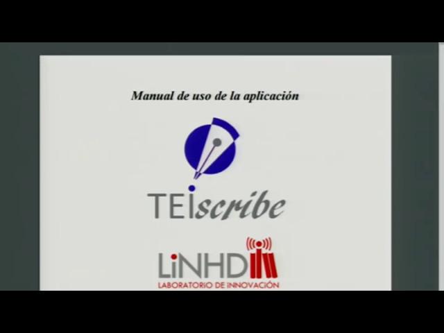 TEIScribe en EVILINHD - como se usa