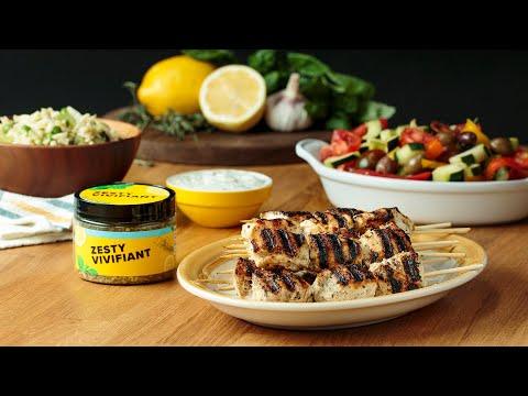 Zesty Chicken Kabobs •Tasty