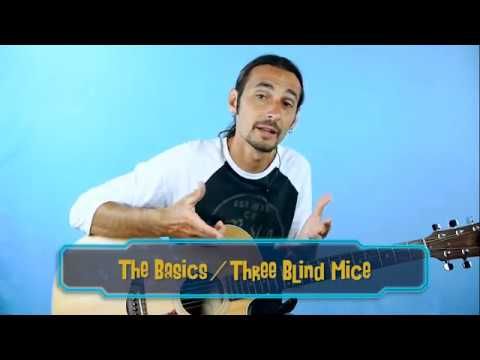 Guitar Lessons for Kids - Beginner Basics and Three Blind Mice