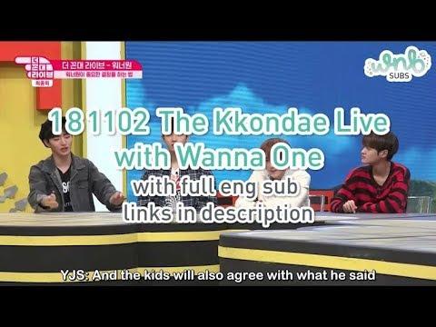 [ENG SUB] 181102 The Kkondae Live Ep 6 - Wanna One (Jisung, Sungwoon,  Jaehwan, Daehwi) by WNBSUBS