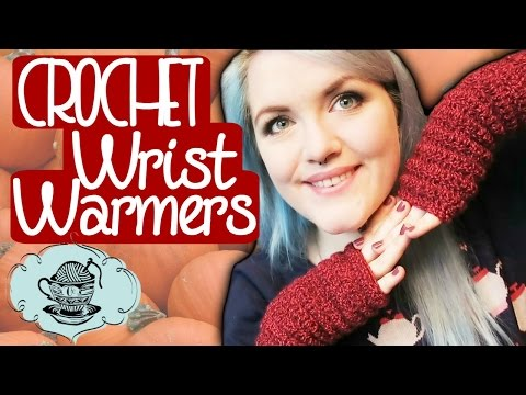 DIY Easy Crochet Wrist Warmers Fingerless Gloves ¦ The Corner Of Craft