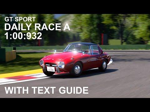GT Sport - Daily Race Lago Maggiore - Toyota Sports 800 Guide (read Description)