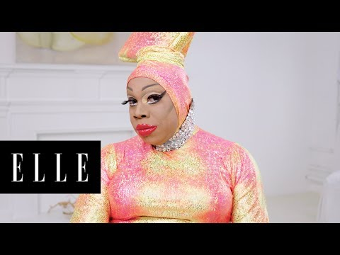 Watch Drag Queen Vivacious' Makeup Transformation | About Face | ELLE