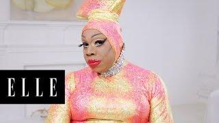 Watch Drag Queen Vivacious' Makeup Transformation | About Face | ELLE