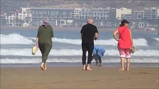 Marea cu Sarea,Europeni cu Marocani,plus Dromedari cu Muzica Agadir Maroc 2018