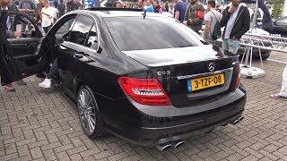 Mercedes-Benz C63 AMG Gang Revving LOUD!