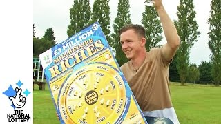Roofer rises up to confirm £1M win on Millionaire Riches scratchcard