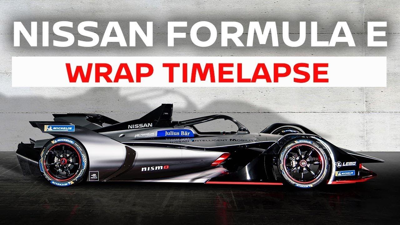 Nissan Formula E Livery Wrap Timelapse