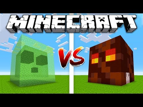 SLIME HOUSE vs MAGMA CUBE HOUSE / Minecraft battle Noob vs Pro